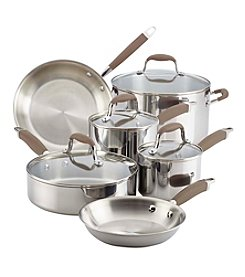 Anolon® 10-Piece Tri-Ply Bronze Stainless Steel Cookware Set