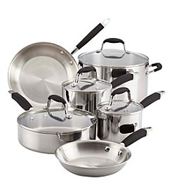 Anolon® 10-Piece Tri-Ply Onyx Stainless Steel Cookware Set