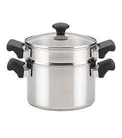 Farberware Classic Traditions Stainless Steel Stack 'N' Steam Covered Saucepot and Steamer