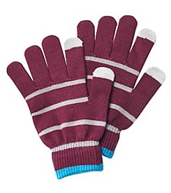 Relativity Striped Magic Touch Gloves