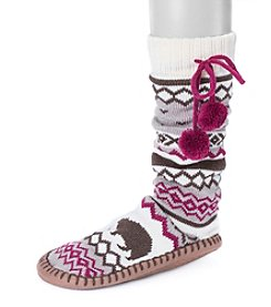 MUK LUKS® Women's Slipper Socks with Poms