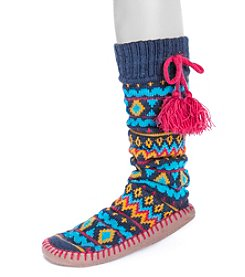 MUK LUKS® Women's Slipper Socks with TasselsUK LUKS® Women's Slipper Socks with Tassels
