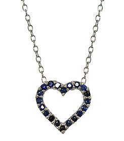 Designs by FMC Heart Sapphire Pendant