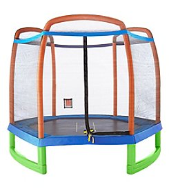 Pure Fun Kids Trampoline With Enclosure And Tic-Tac-Toe