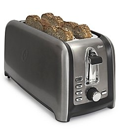 Oster Black Stainless 4-Slice Long Slot Toaster