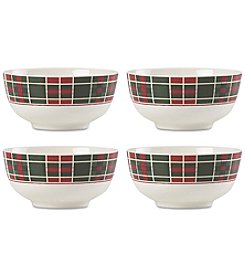 Lenox Holiday Plaid Set of 4 Bowls