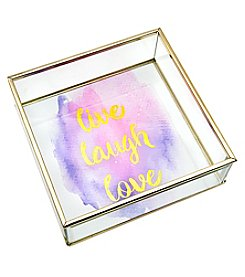 Philip Whitney Live Laugh Love Square Mirror Tray