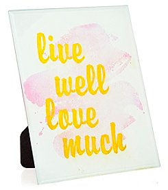 Philip Whitney Live Well Love Much Mirror Sign