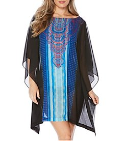Jantzen Abstract Printed Caftan Coverup