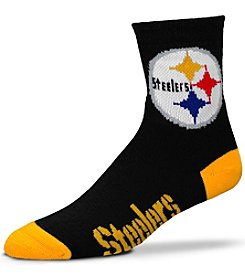 For Bare Feet NFL® Pittsburgh Steelers Men's 501 Quarter Length Socks