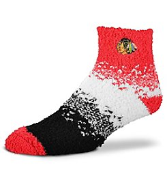 For Bare Feet NHL® Chicago Blackhawks Men's Soft Sleep Marquee Socks