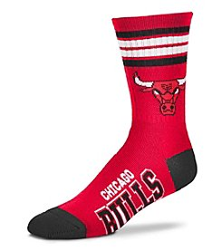 For Bare Feet NBA® Chicago Bulls 4-Stripe Deuce Crew Socks