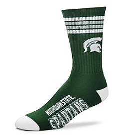 For Bare Feet NCAA® Michigan State Spartans 4-Stripe Deuce Crew Socks