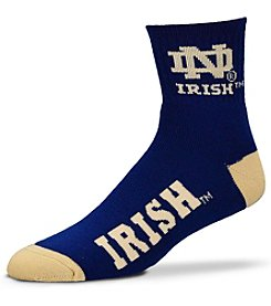 For Bare Feet NCAA® Notre Dame Men's 501 Quarter Length Socks