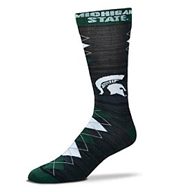 For Bare Feet NCAA® Michigan State Spartans Men's Fan Nation Crew Socks