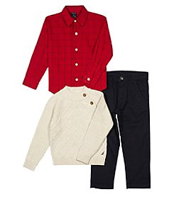 Nautica Boys' 2T-7 3 Pc. Sweater Set