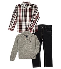 Nautica Boys' 2T-8 3 Pc. Sweater Set