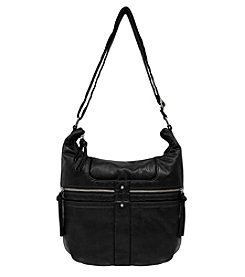Bueno Textured Wash 2 Zip Hobo Bag