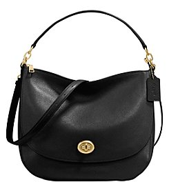 COACH UPDATED TURNLOCK HOBO IN POLISHED PEBBLE LEATHER