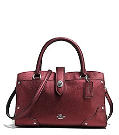 COACH MERCER SATCHEL 24 IN METALLIC LEATHER