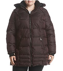 HFX Halifax Plus Size Puffer Lined Hood Coat