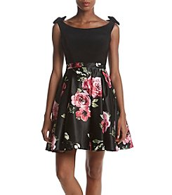 Betsy & Adam Printed Skirt Party Dress