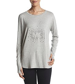 MICHAEL Michael Kors Jewel Stud Detail Thumbhole Cuff Top