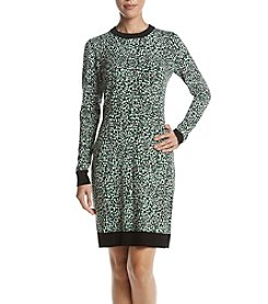 MICHAEL Michael Kors Abstract Pattern Sweater Dress