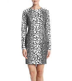 MICHAEL Michael Kors Crocodile Print Sheath Dress