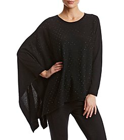 Anne Klein Black Asymmetrical Poncho Sweater