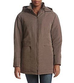 Forecaster Faux Suede Hooded Jacket