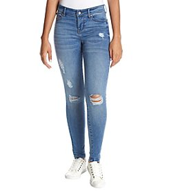 Celebrity Pink Destructed Medium Wash Skinny Jeans