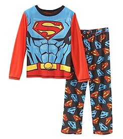 Superman Boys' 4-12 Superman 2 Piece Cape Pajama Set
