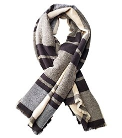 Collection 18 Savannah Plaid Runway Square Scarf