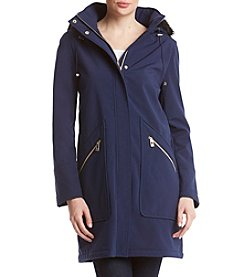 Ivanka Trump Zip Front Faux Fur Hooded Jacket