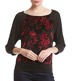 AGB Floral Lace Bodice Sweatshirt