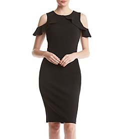 Calvin Klein Ruffle Cold Shoulder Dress