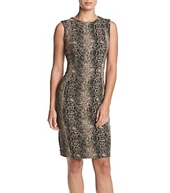 Calvin Klein Animal Print Sheath Dress