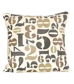 The Pomeroy Collection Numbers Decorative Pillow