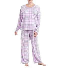 Intimate Essentials Plus Size Plus Size V-Neck Pajama Set