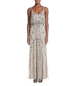 Adrianna Papell Floral Beaded Blouson Dress