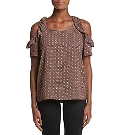 NY Collection Petites' Cold Shoulder Top
