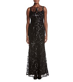 Adrianna Papell Sequin Chiffon Dress