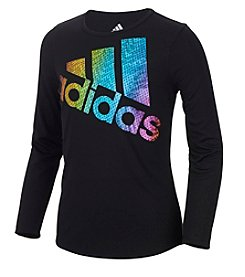 adidas Girls' 2T-6X Long Sleeve Logo Tee