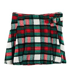 Carter's Girls' 2T-8 Plaid Pleated Skirt