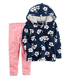 Carter's Girls' 2T-8 Floral Hoodie and Leggings Set