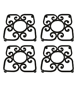 The Pomeroy Collection Borders Set of 4 Trivets