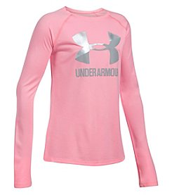 Under Armour Girls' 7-16 Long Sleeve Big Logo Slash Tee