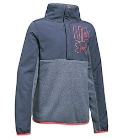 Under Armour Girls' 7-16 Phenom Fleece Half Snap Pullover
