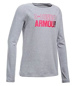 Under Armour Girls' 7-16 Big Logo Long Sleeve Tee